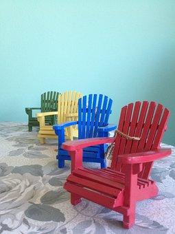 Adirondack Chairs, Red Chair, Blue Chair, Yellow Chair
