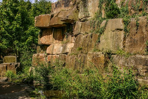 Hanover, Park Who Senses, Park, Rock Wall, Garden, Away