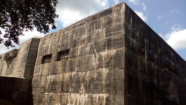 Bunker, Defensive Work, Blockhaus, Eperlecques, France