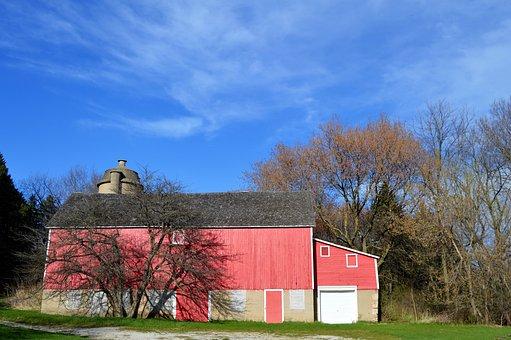 Barn, Whitnall Park, Milwaukee, Red, Building