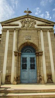 Cyprus, Xylotymbou, School, Neoclassic, Architecture