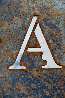 Letter A, A, Design, Print, Type, Alphabet, 3d, Logo