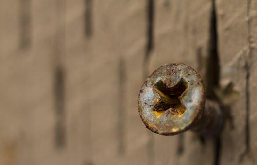 Background, Texture, Screw, Rusty, Metal, Dirty