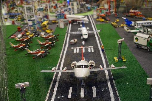 Lego City, Plane, Airport, Exhibition, Toys, Lego