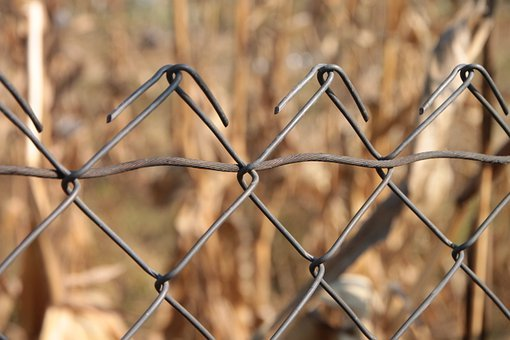 Chain, Fence, Fencing, Galvanized, Link, Metal, Wire