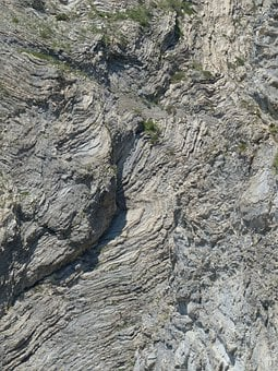 Rock Formations, Folded, Fold, Geological Interfaces