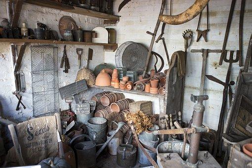 Potting Shed, Garden Tools, Terracotta Pots