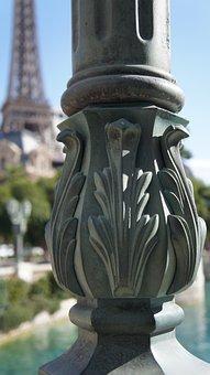Light Post, Lamp Post, Eiffel Tower, Paris, Las Vegas