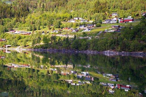 Norway, Fjordlandschaft, Hill, Nature, Landscape