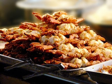 Crab, Fried Crabs, Dinner, Chinese, Food, Market