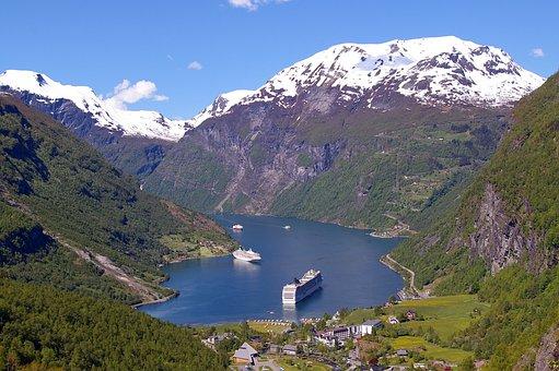 Fjord, Norway, Fjordlandschaft, Mountains, Landscape