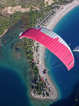 Paragliding, Parachute, Sky, Air, Paraglider, Freedom