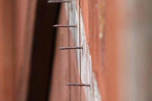 Nail, Protrude, Sharp, Exposed, Rusty, Rustic