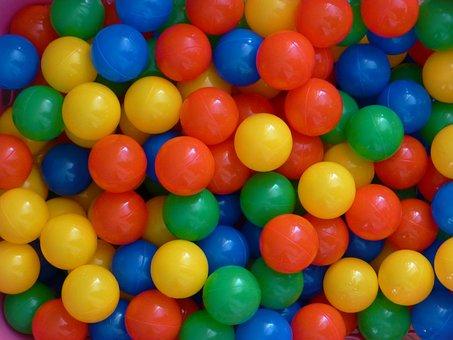 Plastic Balls, Balls, Colorful, Color, Red, Green, Blue