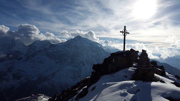 Schoneck, Summit, Sunset, Ortler, Summit Cross