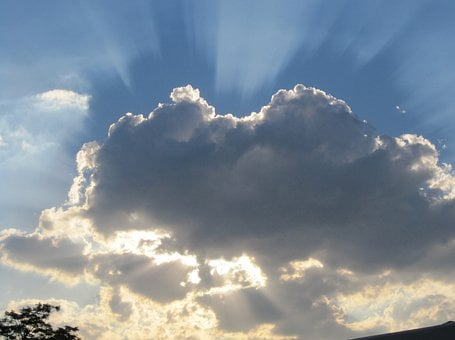 Dark Cloud, Surrounded With Light, Light Source Behind