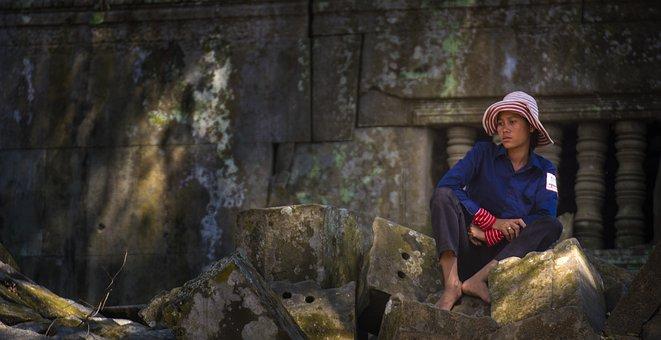 Cambodia, Tourism, Go Sightseeing, Child, Capture