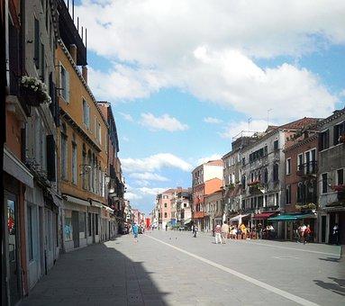 Venice, Castle, Road, Via, Via Garibaldi