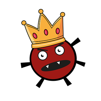 Virus, Angry, Crown, Expression, Drawing, Corona