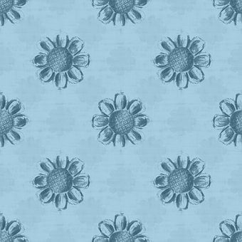 Flowers, Design, Floral, Bloom, Blue, Decorative