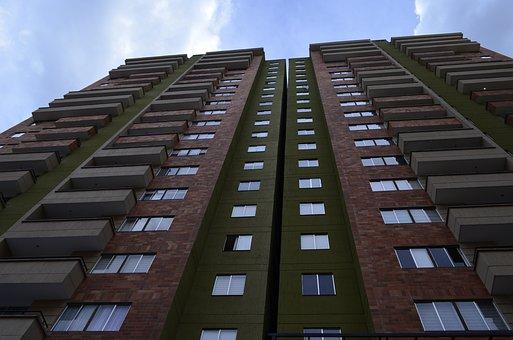 Building, Apartments, Windows, Balcony, Sky, City