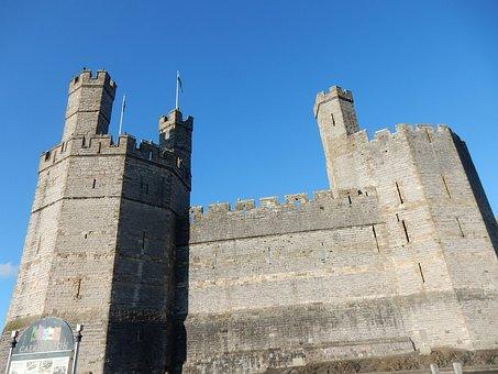 Castle, Architecture, Monument, Caernarfon, Wales