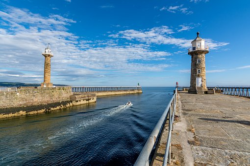Pier, Lighthouse, Ocean, Structure, Seaside, Coast