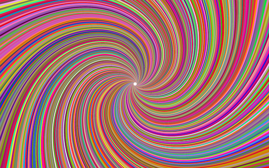 Psychedelic, Spiral, Abstract, Colorful, Starburst