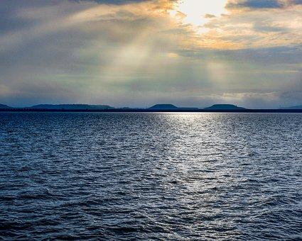 Water, Sunset, Sea, Sky, Ocean, Nature, Sunrise, Dusk