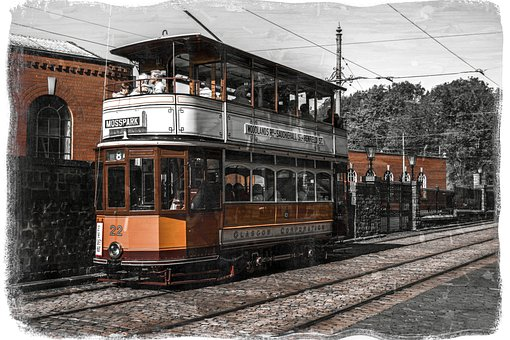 Tram, Transport, Transportation, Rails, Track