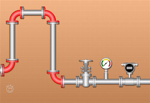 Conveyor, Valve, Pressure Gauge, Gate Valve, Flowmeter
