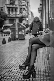 Girl, Legs, Street, Buenos Aires, Body, Posture, Model