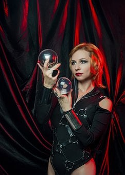 Gothic, Woman, Spirit Ball, Ball Fortune Tellers