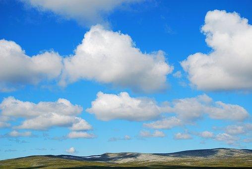 Sky, Blue, Hills, Nature, Summer, Landscape, Atmosphere