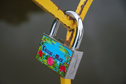 Lock, Padlock, Painted, Protection, Safety, Object