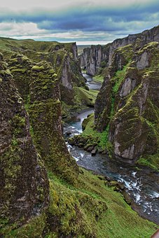 Canyon, Mountains, River, Rocks, Nature