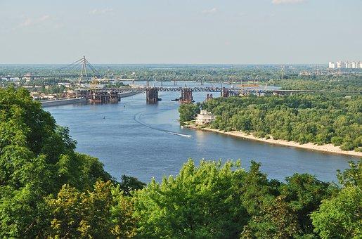 River, Bridges, River-bank, Trees, Riverside