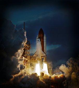 Rocket, Space, Ship, Spacecraft, Sky