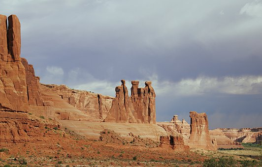 Rock, Arches, Dry, Arch, Utah, Ut, National Park