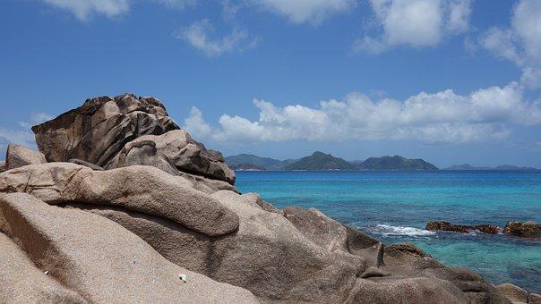 Tropical, Exotic, Beach, Rock, Sea, Coast, Blue Sky