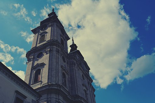 Church Towers, Church, Blue Sky, Building, Architecture