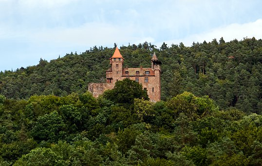 Castle, Tower, Fortress, Berwartstein, Middle Ages