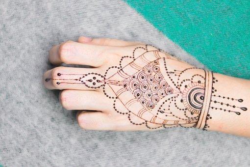 Girl, Hand, Henna, Mendi, Paint, Pattern, India, People