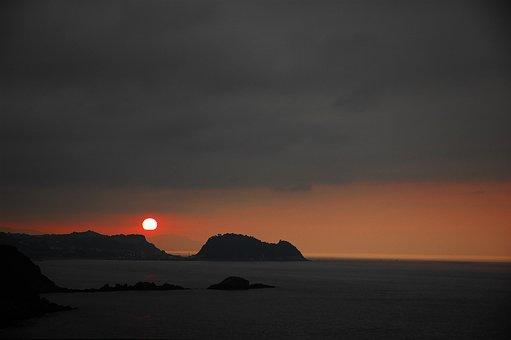 Sunset, Beach, France, Riviera, Sky, Landscape, Dusk
