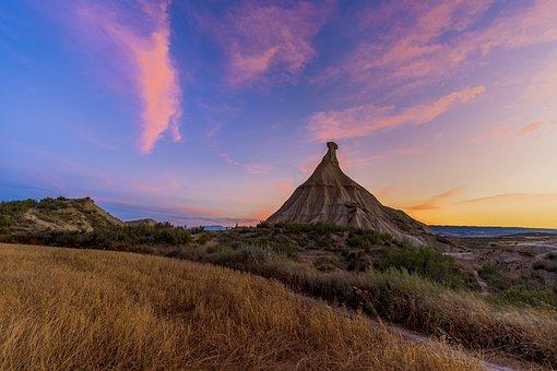 Desert, Dry, Sand, Spain, Landscape, Rock