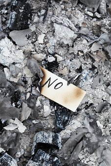 Note, Paper, Ashes, Coal, Ash, Letter, No