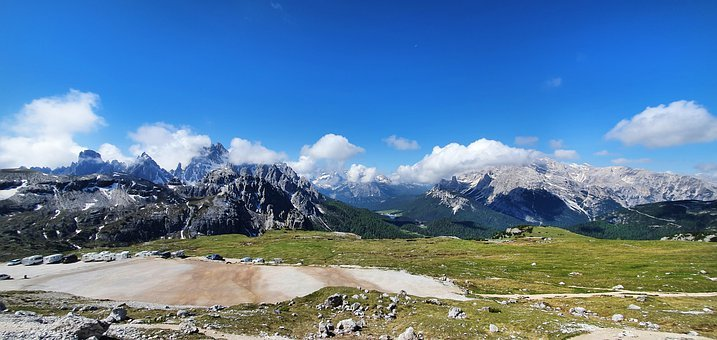 Summit, Mountains, Alpine, Dolomites, Panorama