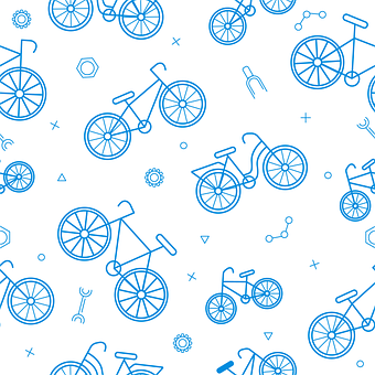 Pattern, Bicycles, Bike, Seamless, Background, Texture