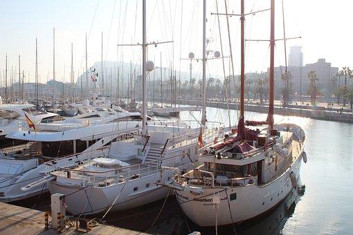 Dock, Ships, Boats, Sai, Jetty, Spain, Barcelona