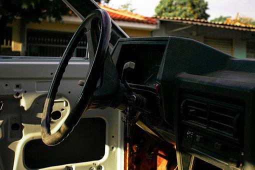 Car, Vehicle, Automotive, Scrap, Rusty, Broken